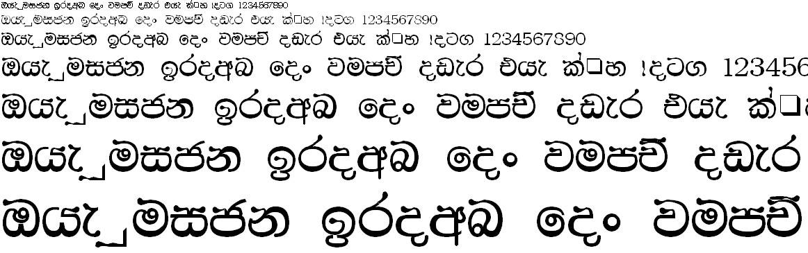 CPS 54 Sinhala Font