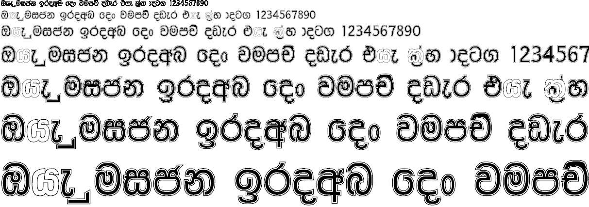 NPW Anju Sinhala Font