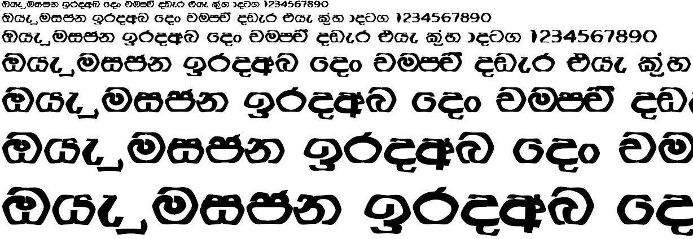 NPW Anusha Sinhala Font