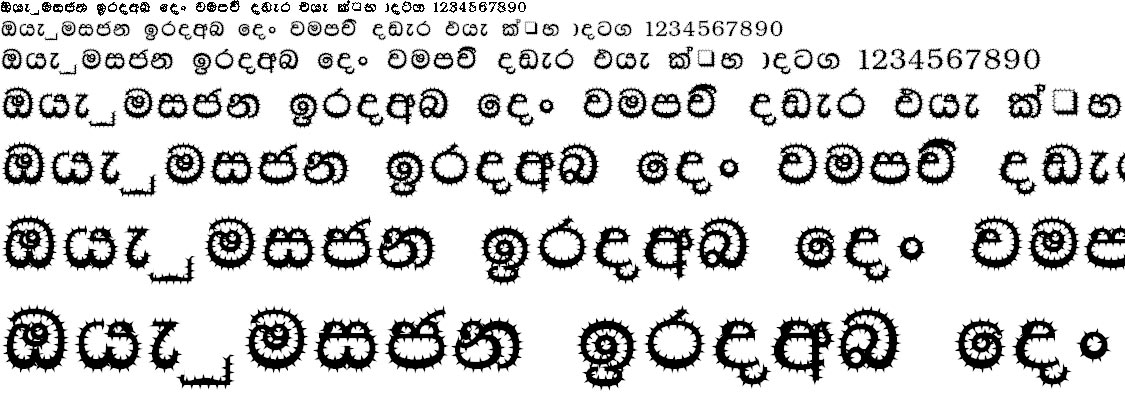 NPW Cactus Sinhala Font