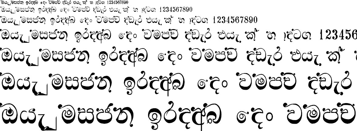 NPW Jina Sinhala Font