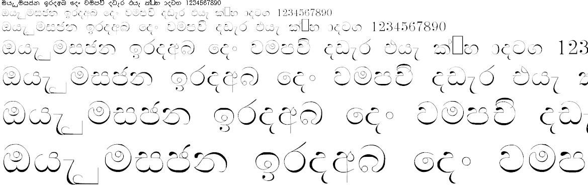NPW Manel Sinhala Font