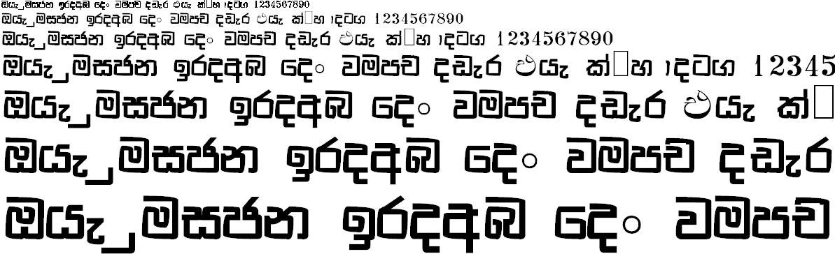 NPW Manju Sinhala Font