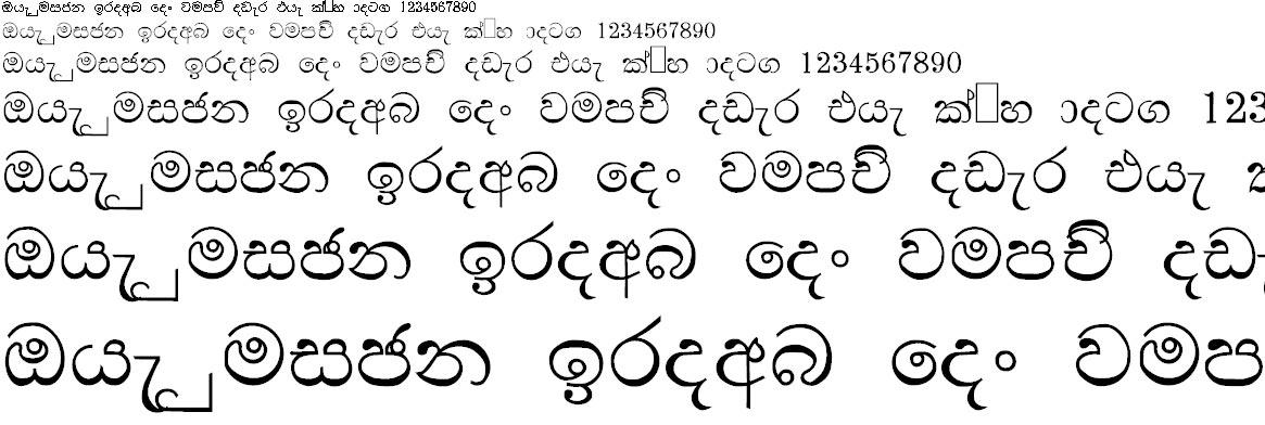 NPW Ranjan Sinhala Font