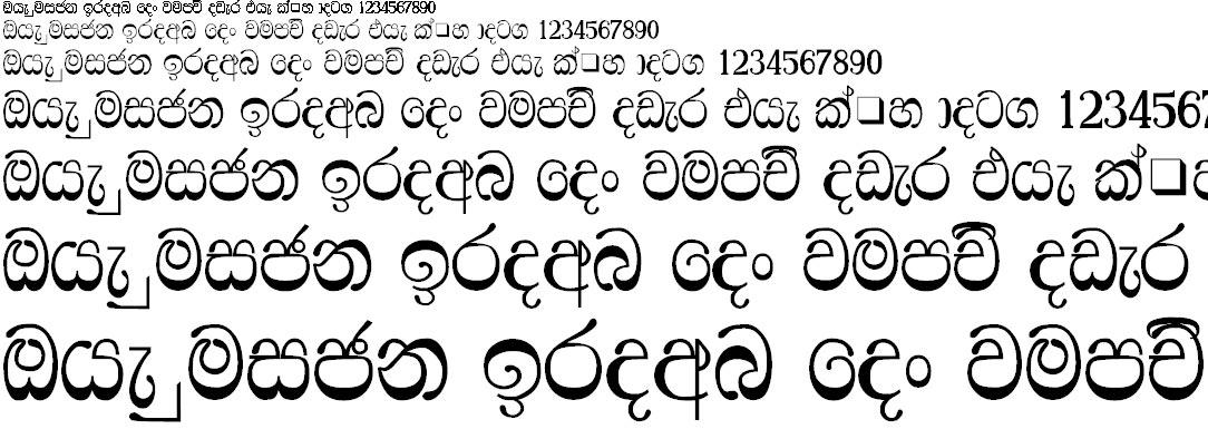 NPW Ridhma Sinhala Font