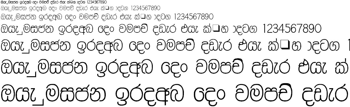 NPW Sawana Sinhala Font