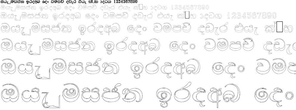 NPW Thilina Sinhala Font
