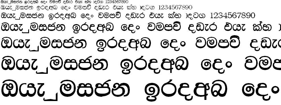 Piushi Normal Sinhala Font
