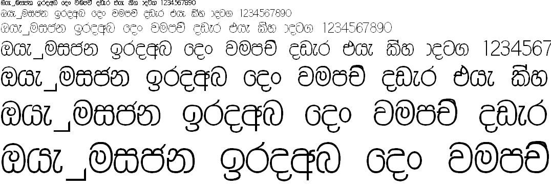 Ranasuru PC Sinhala Font