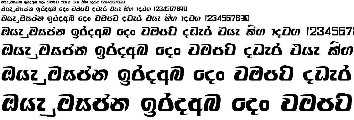 Ranmadu Sinhala Font