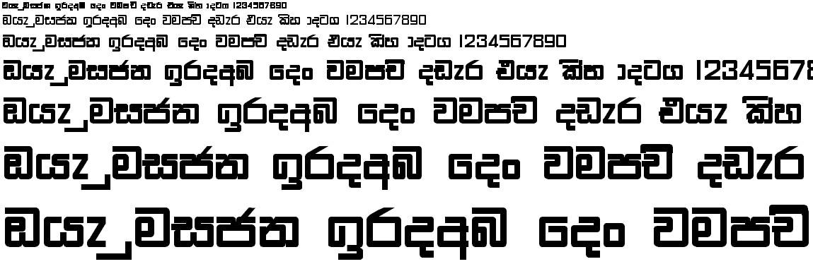 Ridi 12 Sinhala Font