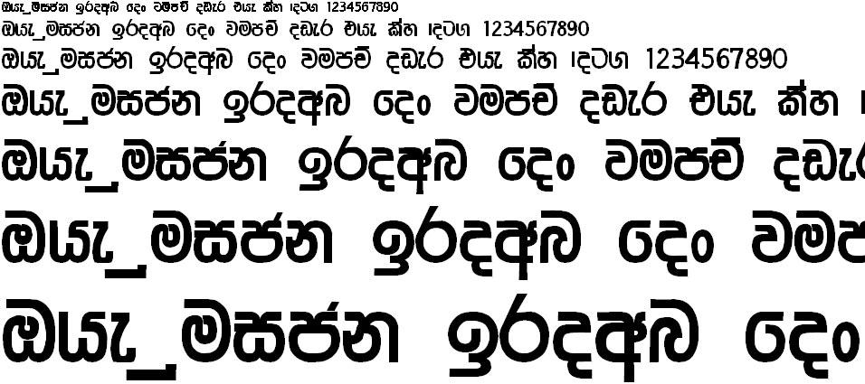 Ridi 14 Sinhala Font