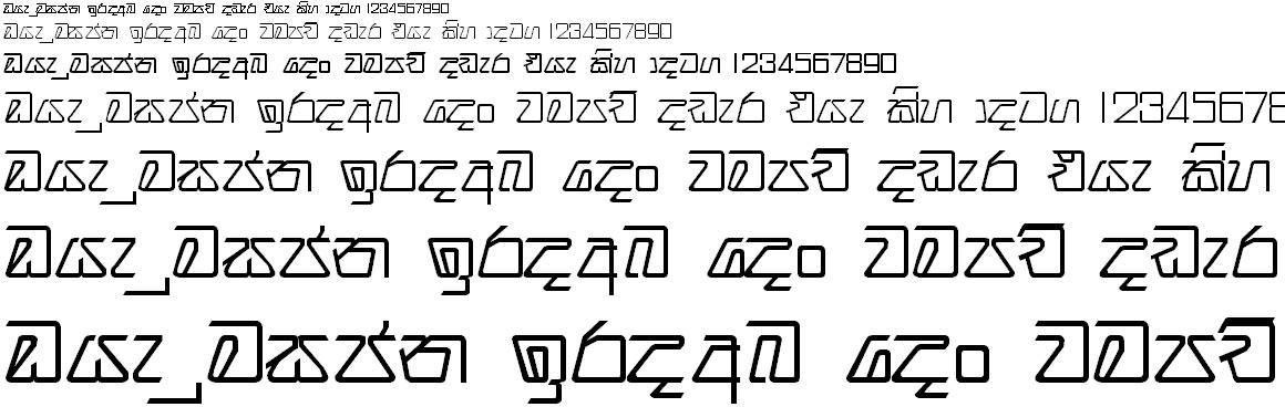 Ridi 15 Sinhala Font