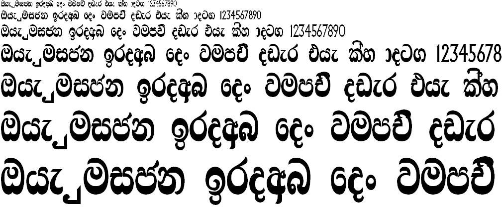 Ridi 19 Sinhala Font