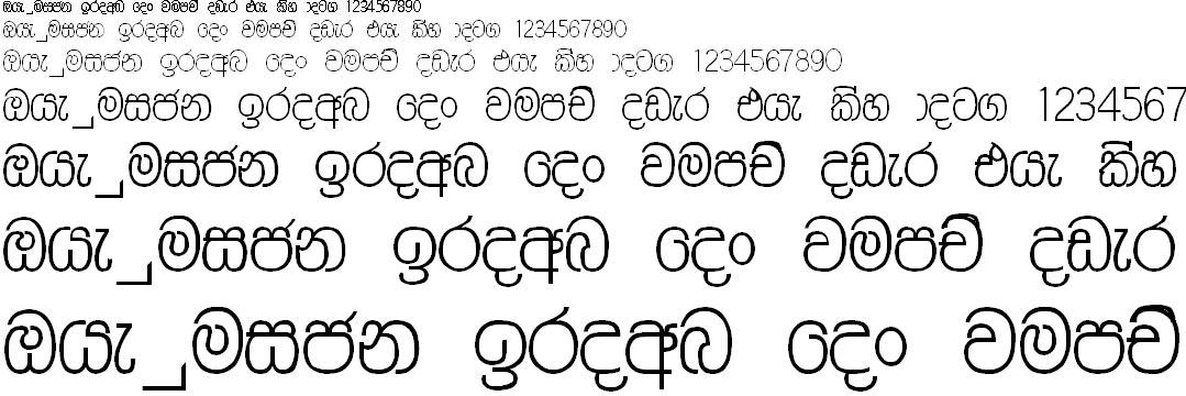 Ruwani PC Sinhala Font