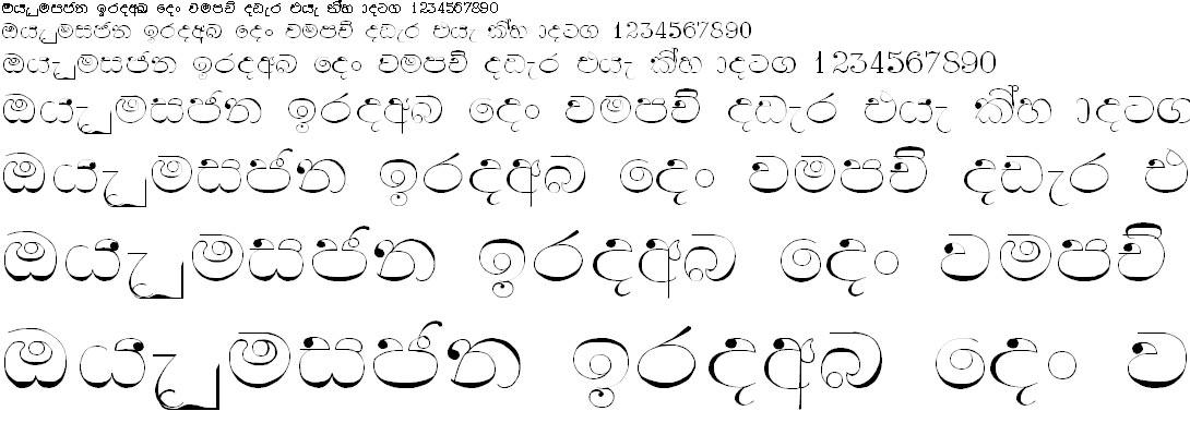 Samanala Light Sinhala Font