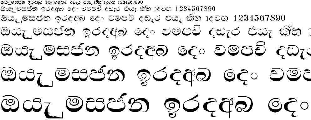 Sandaya Flintab Sinhala Font