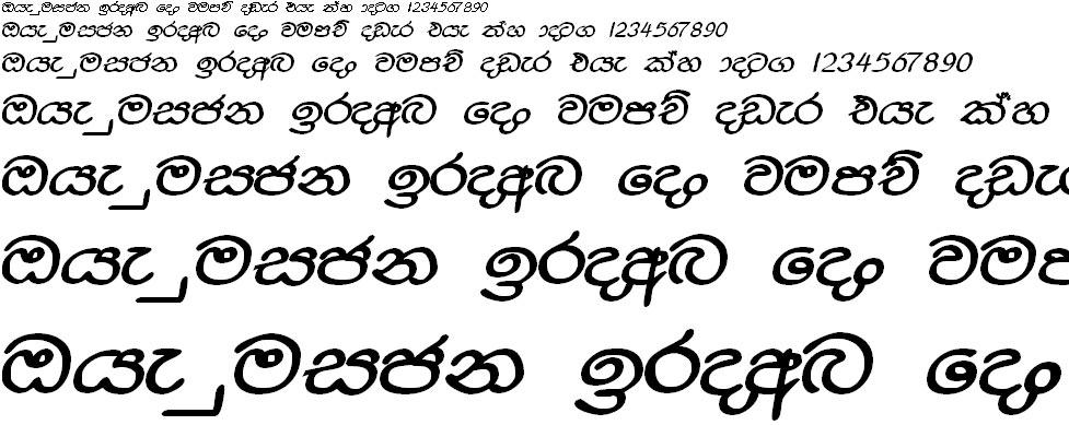 Sara Punchi Sinhala Font