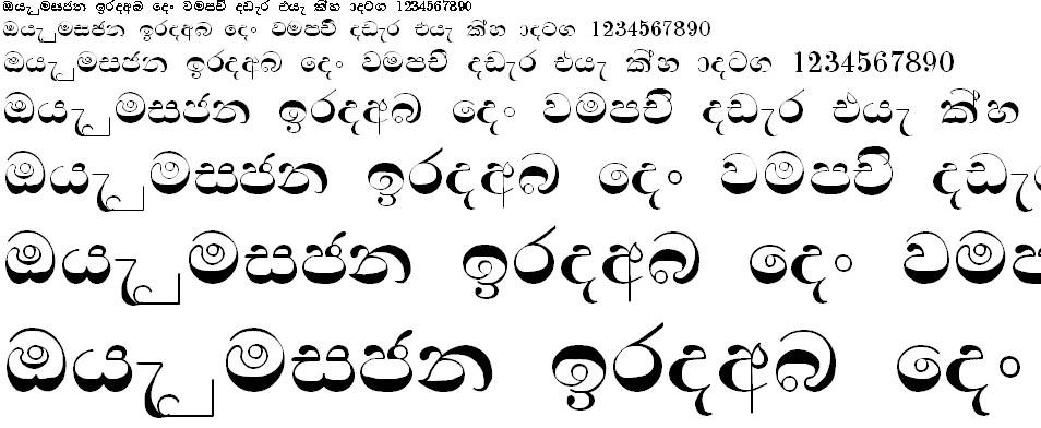 Sin Nelum A Sinhala Font