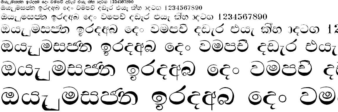 Sinhala Manel Sinhala Font