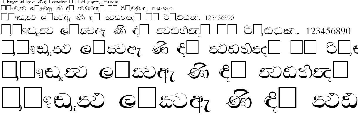 SriLanka Regular Sinhala Font