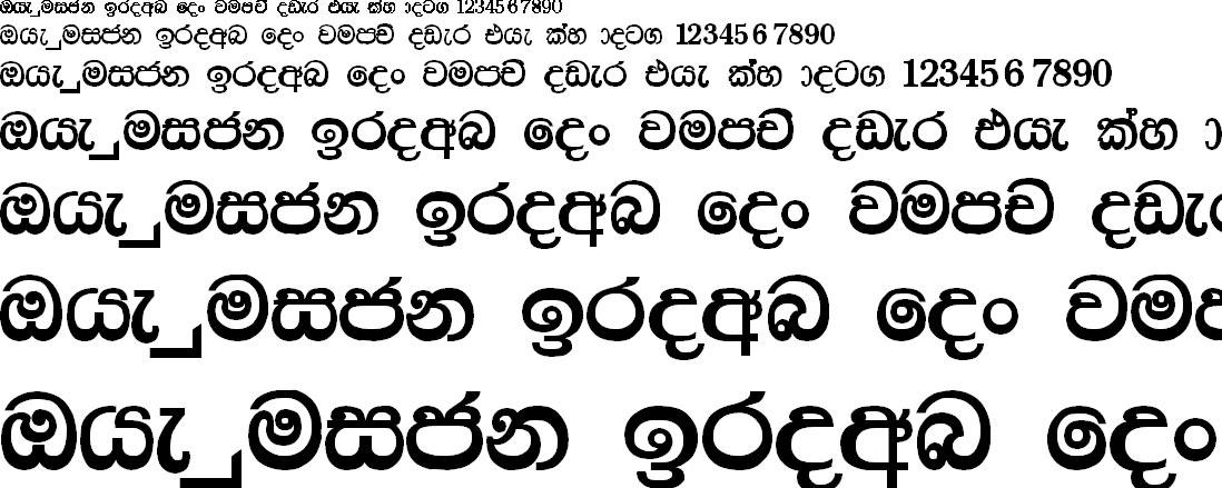 Somi Rangika Sinhala Font