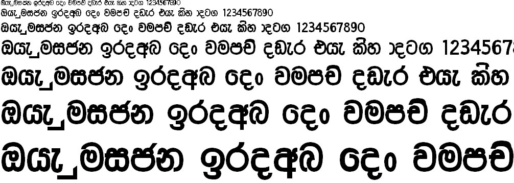 Somi Ruwan Sinhala Font