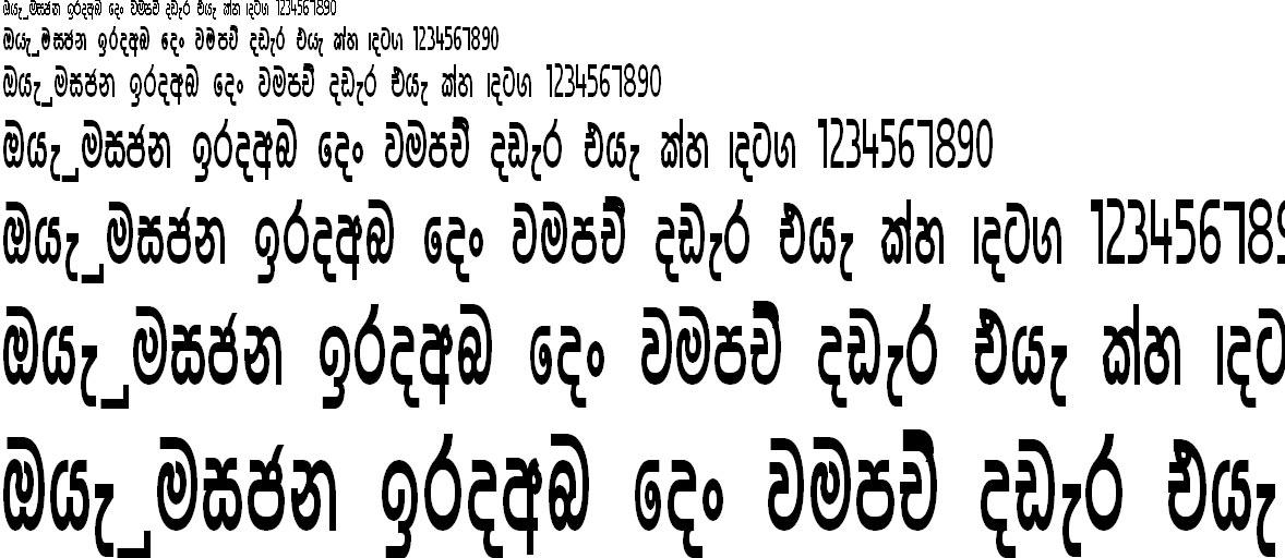 SU Naga Sinhala Font