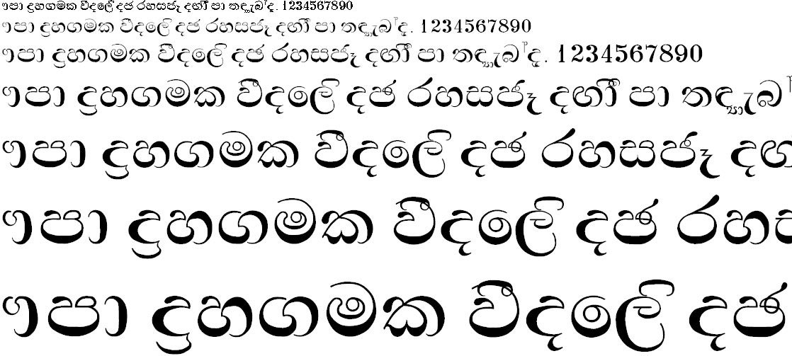Thara Sinhala Font