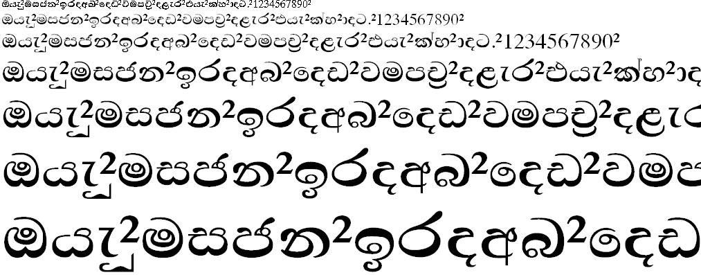 Waartha Sinhala Font