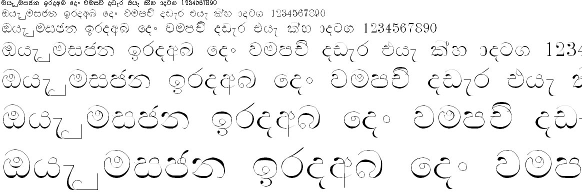 Wije 3 Thin Std Sinhala Font