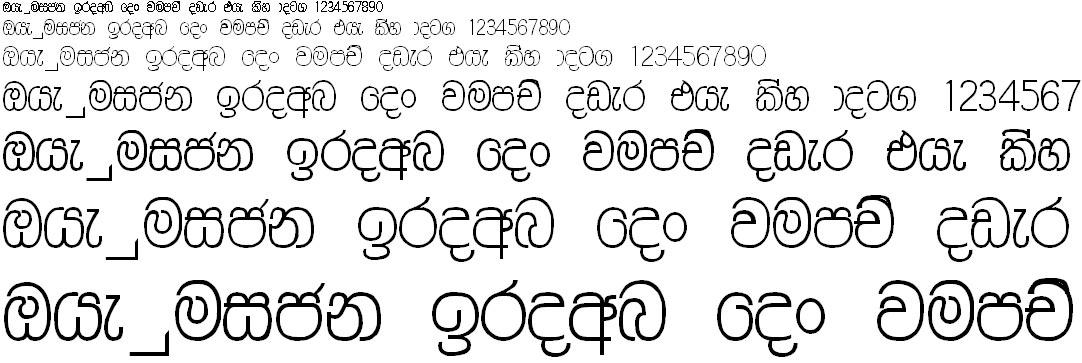 Wije 7 Same Thin Tall Sinhala Font